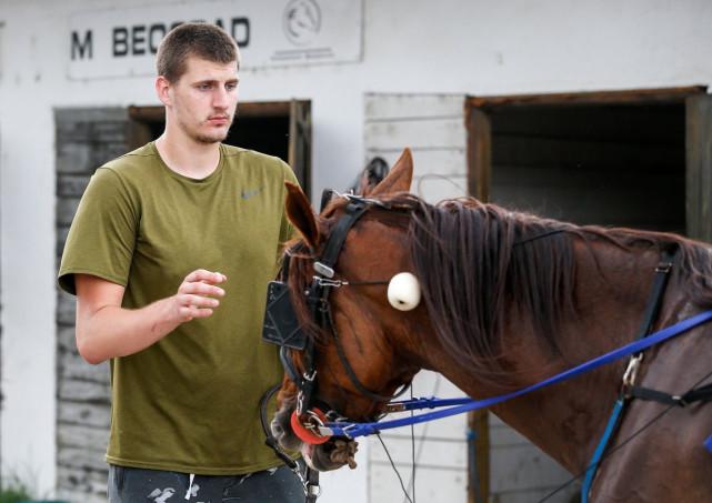 约基奇和他的喜欢马。