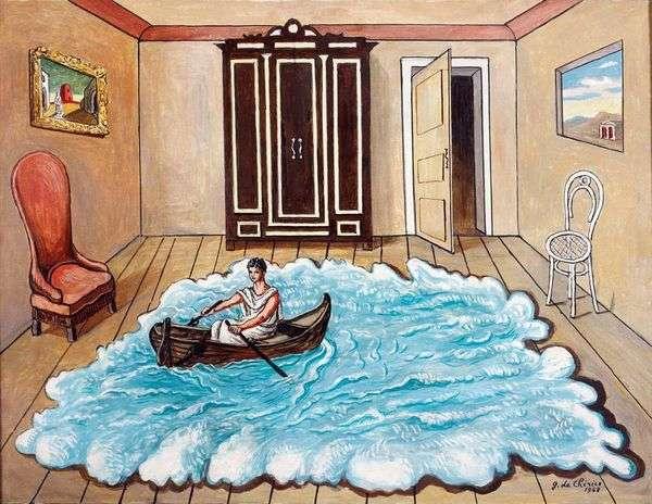 """乔治·德·基里科(Giorgio de Chirico),""""尤利西斯归来"""" (""""The Return of Ulysses"""" ,1968)"""