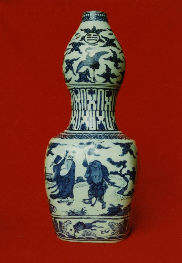 青花八仙葫芦瓶