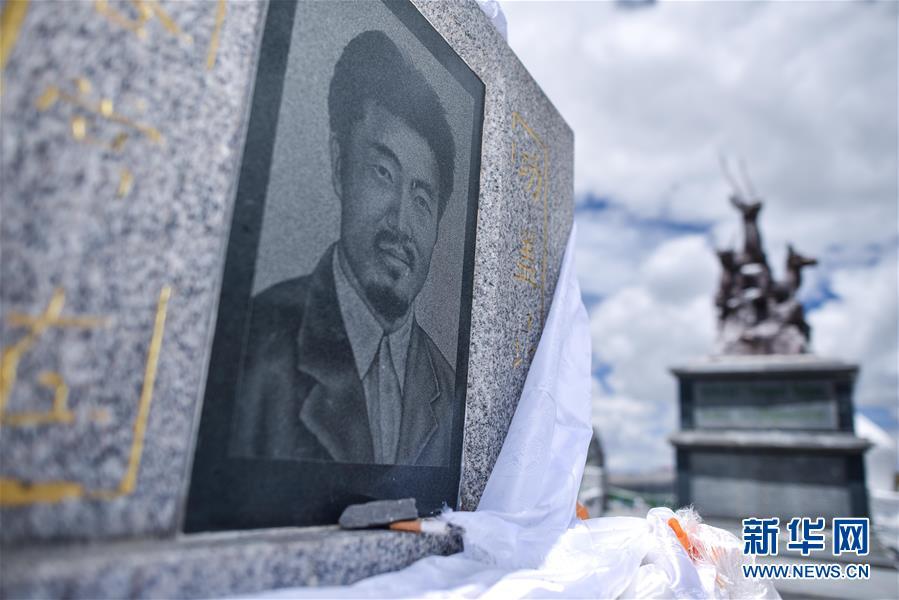 索南达杰纪念碑(2018年8月10日摄)新华网 图