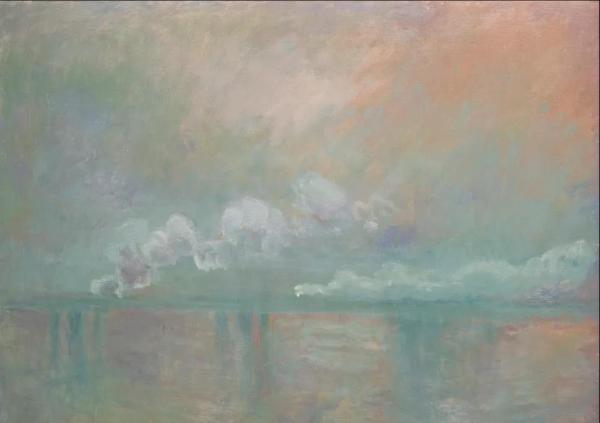 克劳德·莫奈,《伦敦查灵十字桥,雾中烟云印象》,1902