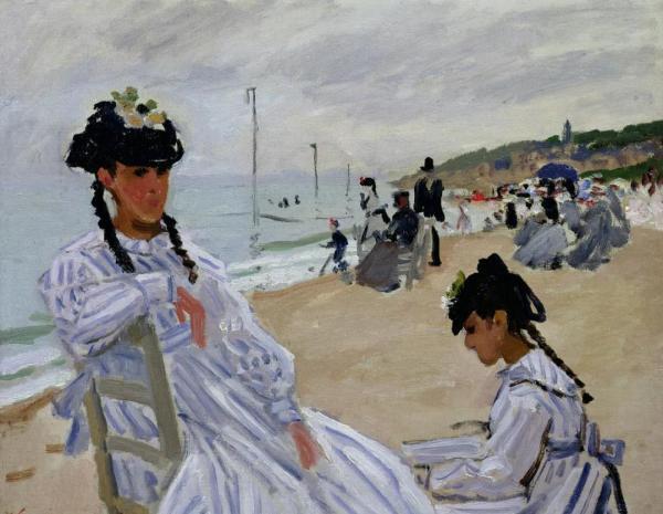 克劳德·莫奈,《特鲁维尔海滨》,1870