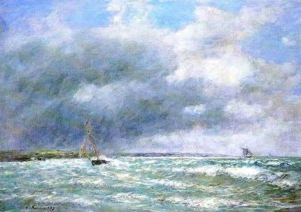 欧仁·布丹笔下的海景