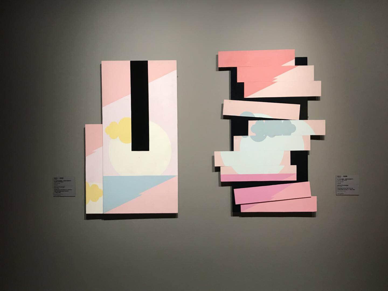 展厅尾端的当代艺术画作 作者:拉热尔·弗朗格