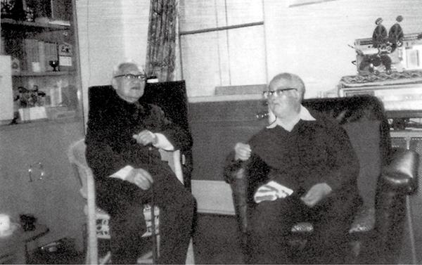 1985年3月,巴金与沈从文的最后晤面。