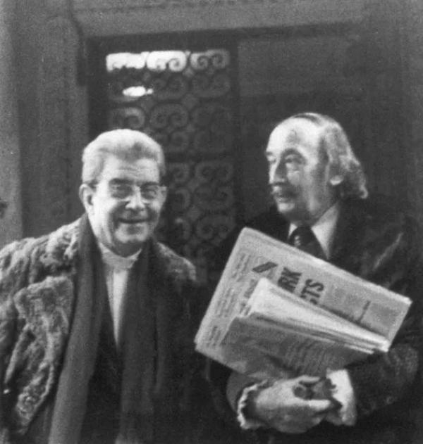 拉康和达利在纽约,1975年12月。