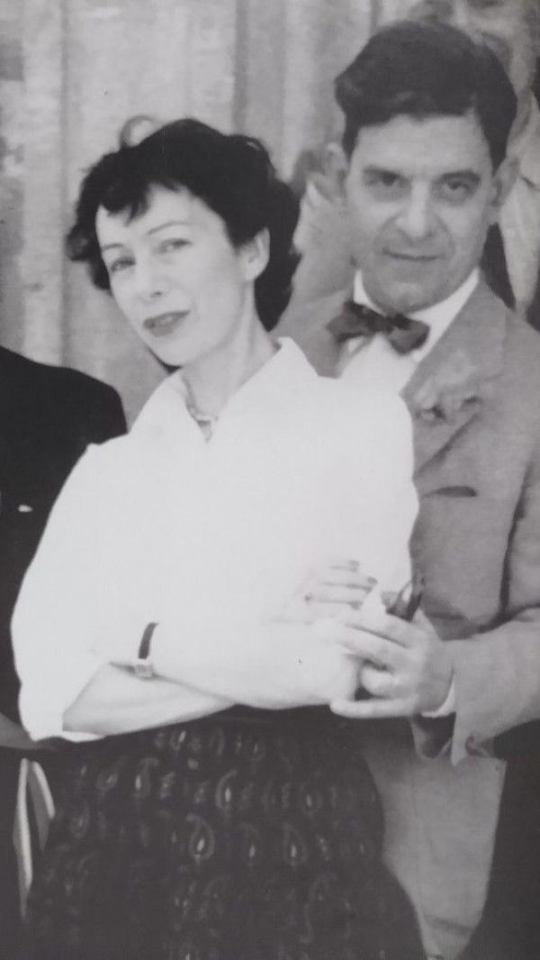 拉康和西尔维亚·巴塔耶,1953年。