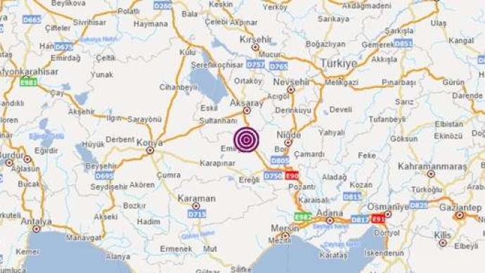 土耳其尼代省发生5.1级地震,震源深度6.97千米