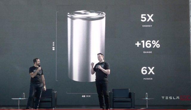 """特斯拉在会发布全新的""""4680""""型电池。"""