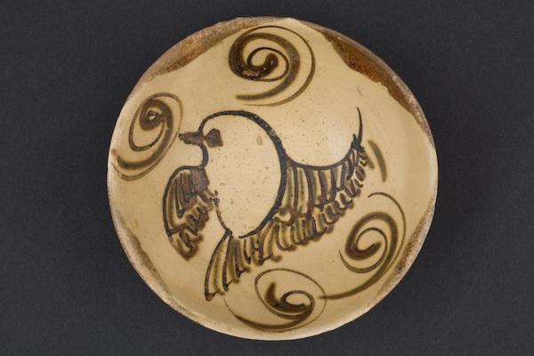 唐代 长沙窑飞鸟纹碗 新加坡亚洲文明博物馆藏