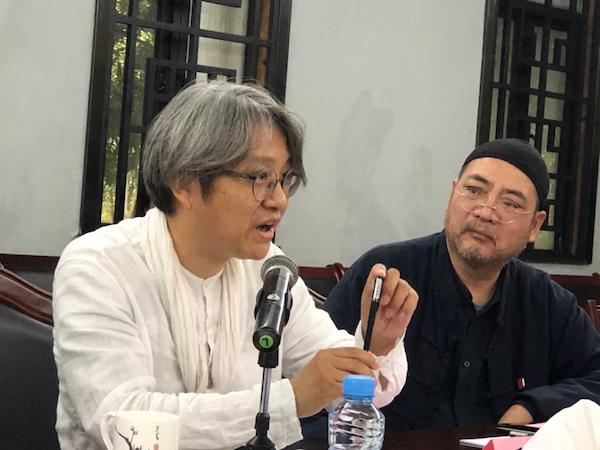 北京画院院长吴洪亮发言