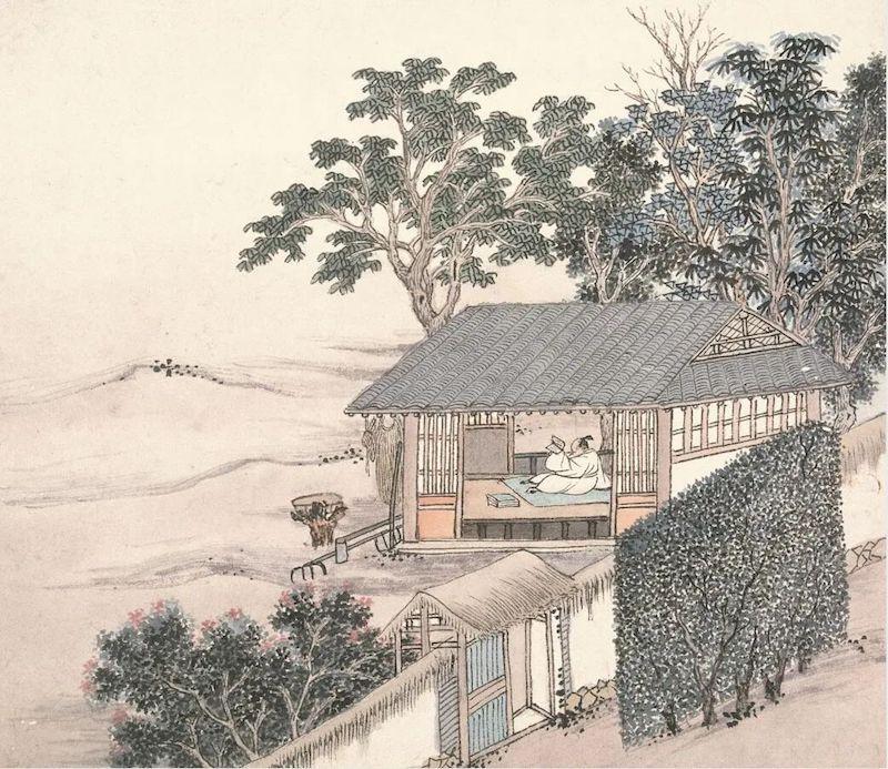 明 沈周《东庄图》,南京博物院藏
