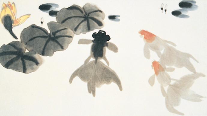 從金魚看吳作人的中國畫探索,蘇州展其金魚作品研究展
