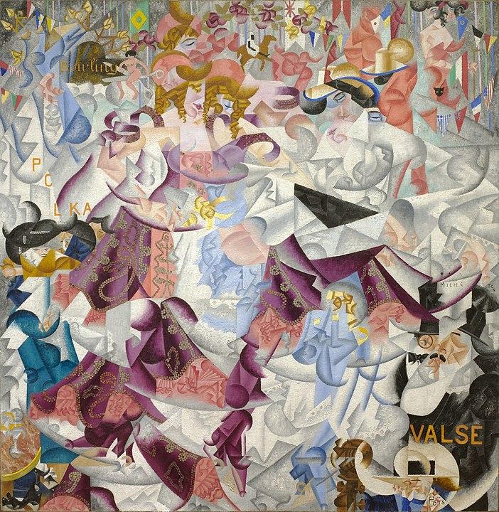 异日主义画家 吉诺·塞韦里尼(Gino Severini)《巴尔塔巴林的动态象形文字》 1912年