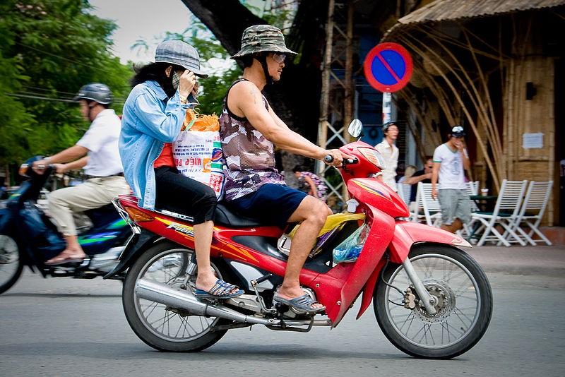 """越南是""""摩托车上的国家"""",是世界第四大摩托车市场。图片来源: Wikimedia Commons"""