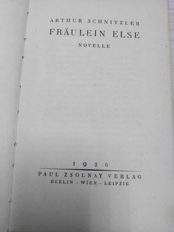 施尼茨勒小说《埃尔泽小姐》德文版