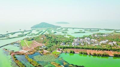 作为长三角地区三大淡水湖之一的太湖风光 新华社发