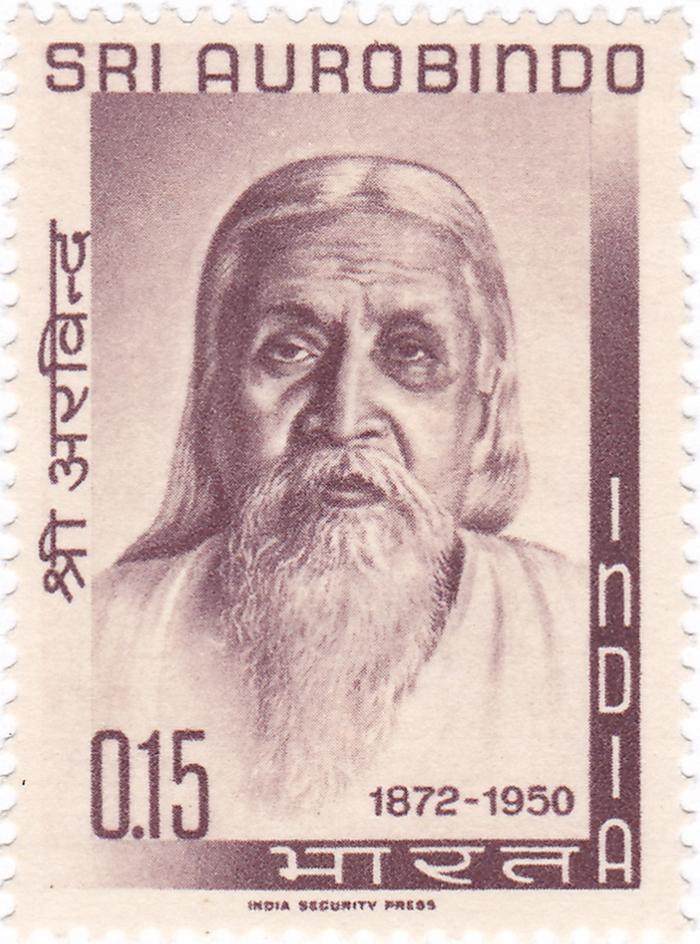 1964年印度纪念邮票上的哲学家奥罗宾多
