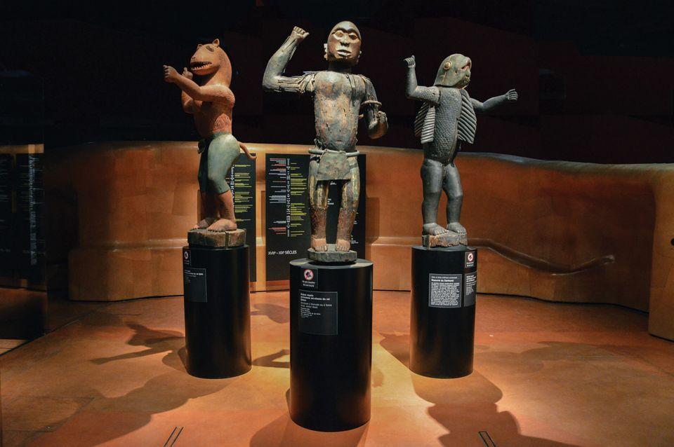 位于法国巴黎盖布朗利博物馆的贝宁文物。