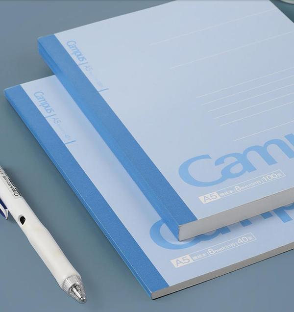 专门在中国市场销售的Campus笔记本,横线宽度为更适合汉字书写的8mm