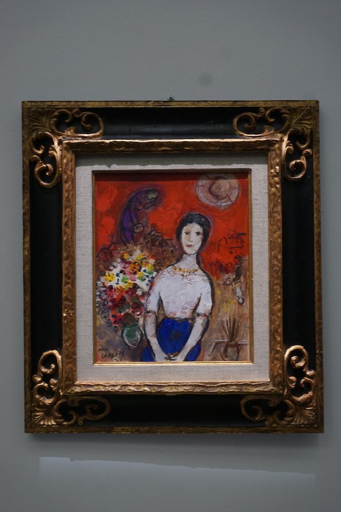 夏加尔 《瓦瓦的画像》