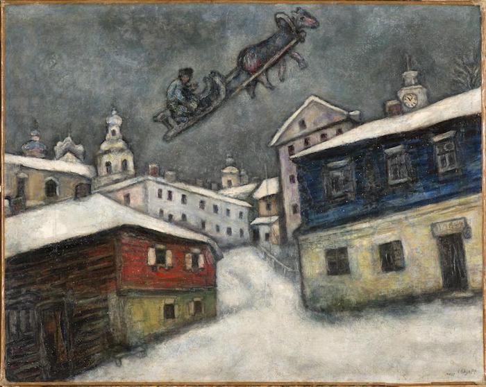夏加尔《俄罗斯村庄》