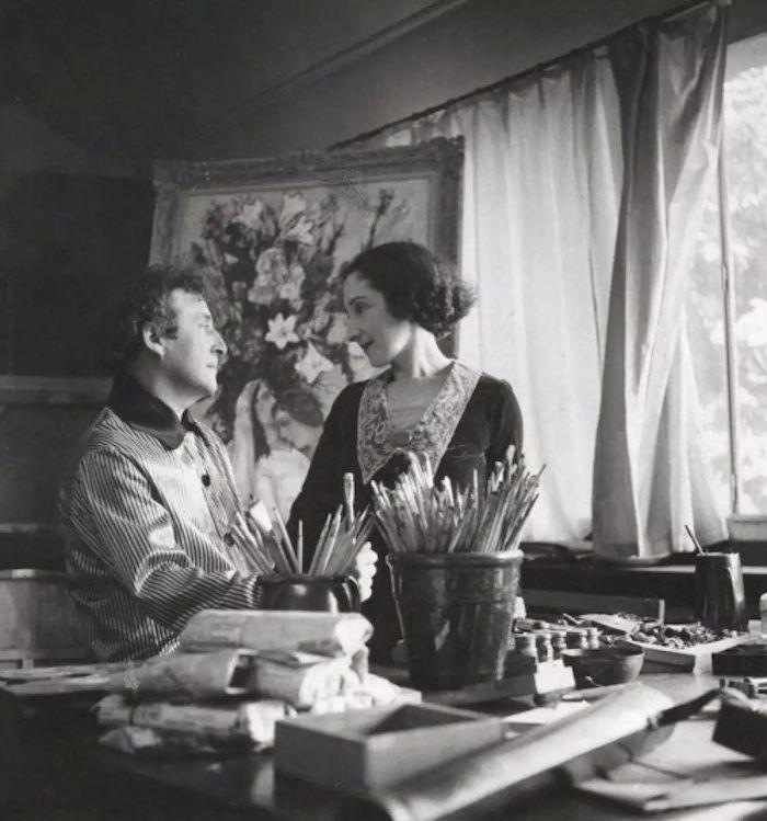 夏加尔与贝拉在巴黎