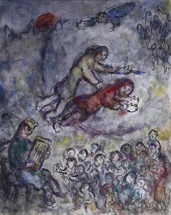 夏加尔坦培拉画法的作品