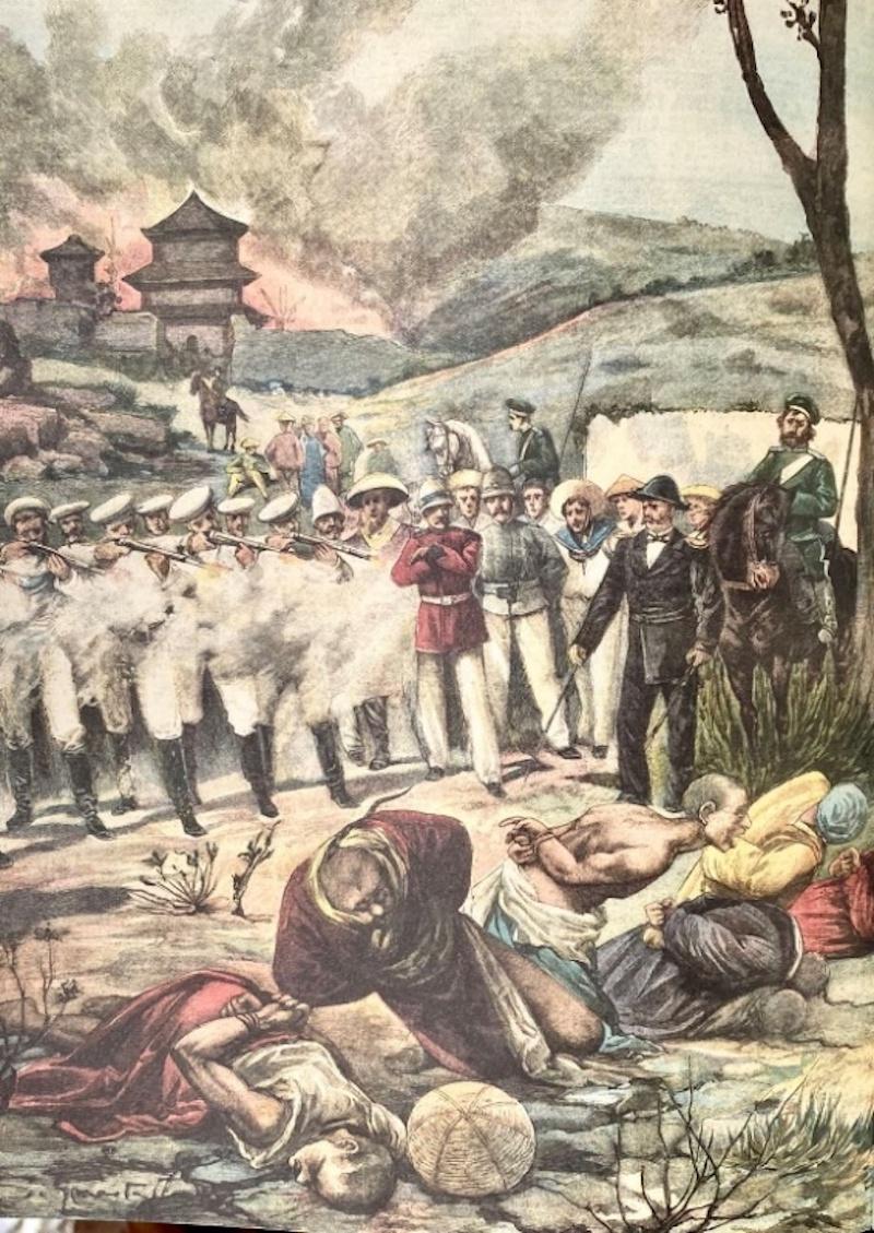 八国联军枪决义和团拳民