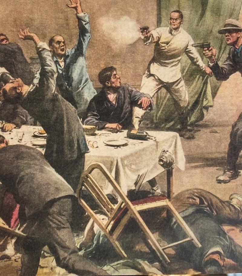 亲日官员在餐馆吃饭时被击毙
