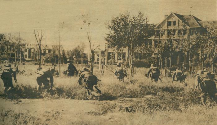 日军攻入复旦大学校园