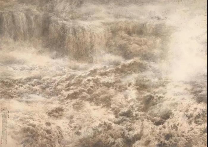 宋雨桂、王宏《黄河雄姿》 纸本水墨设色2016年国家博物馆收藏陈列