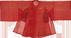 大红素纱袍