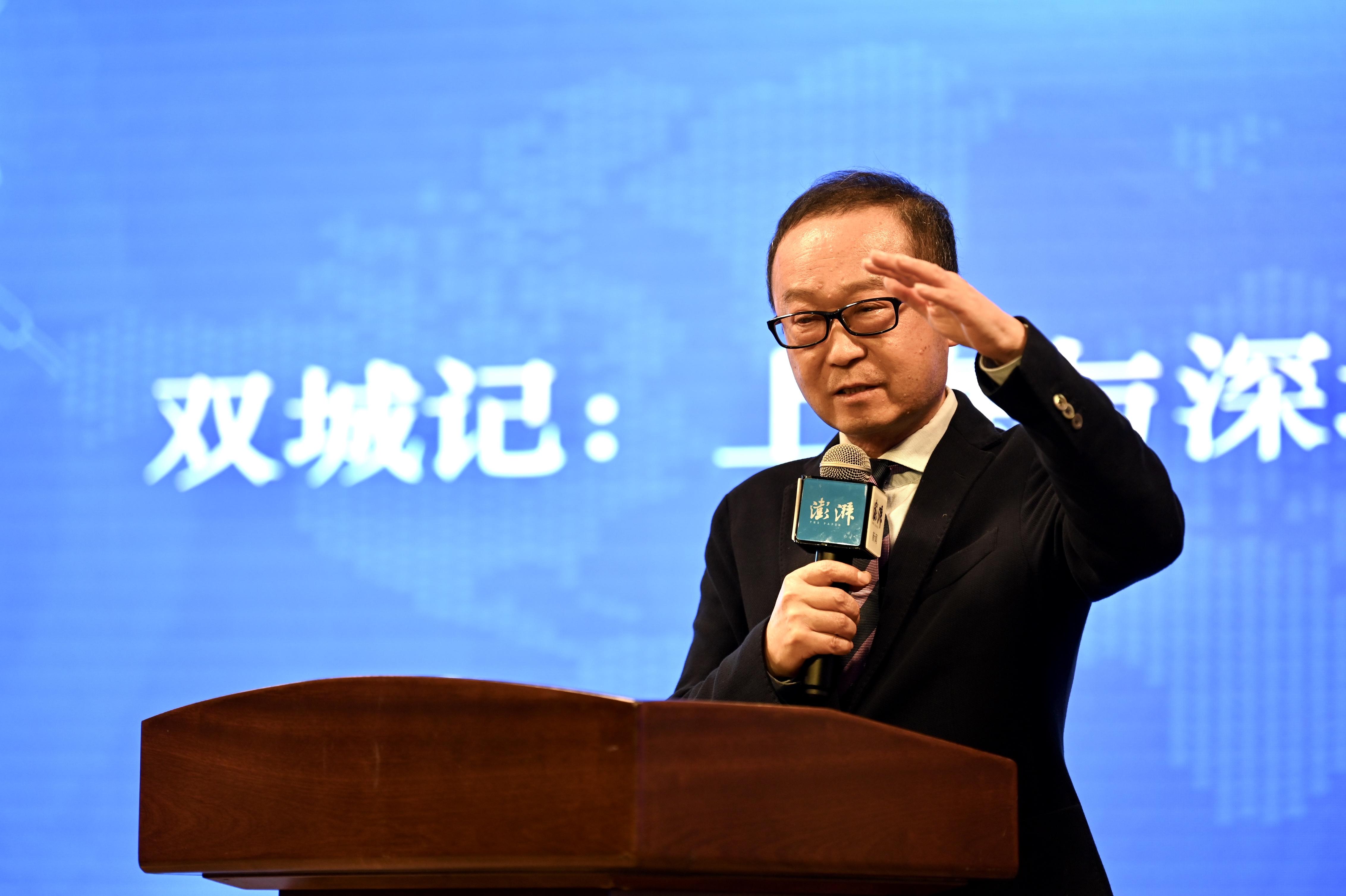 复旦大学经济学院院长张军。澎湃新闻 孙湛 图