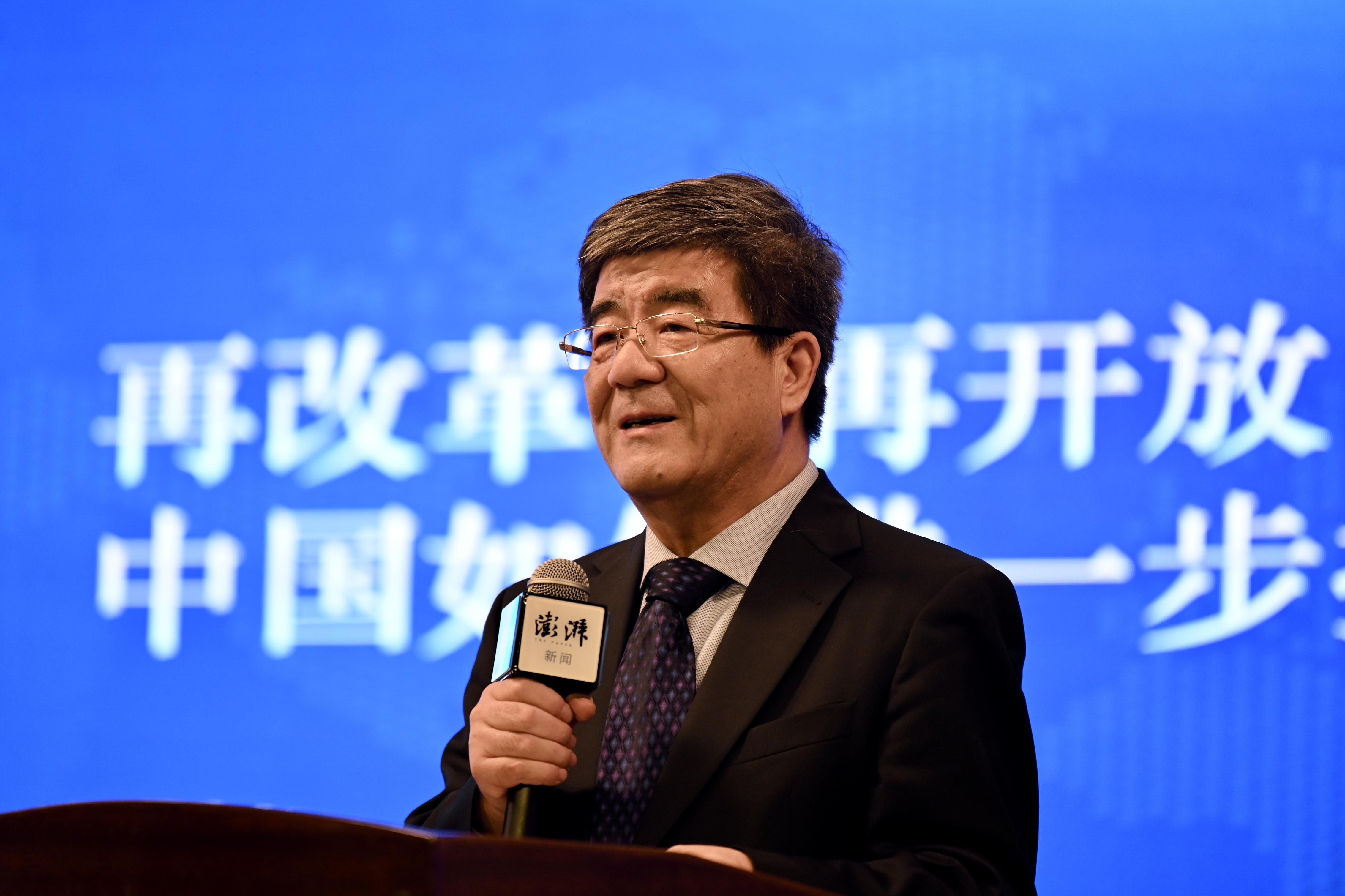 北京大学汇丰商学院院长、北京大学原副校长海闻。 澎湃新闻记者 孙湛 图