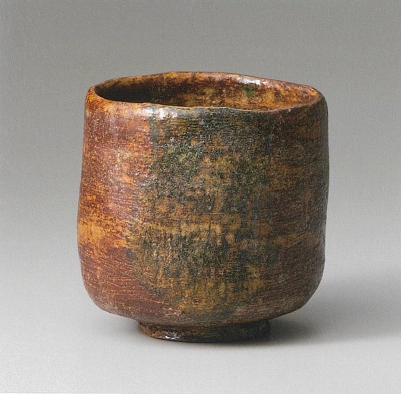 """道入作""""破""""(赤茶碗),十七世纪,乐美术馆藏,图片来自乐美术馆监修《楽歴代》"""