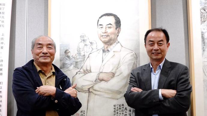 上海文史馆的画家们终于与笔下的抗疫英雄见面了