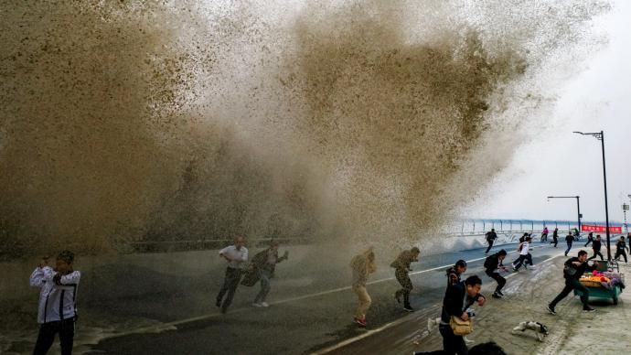 一周图片|钱塘江大潮进入最佳观赏期,游客莫贪刺激勿忘安全