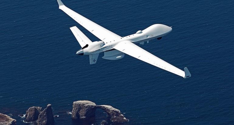 """MQ-9B""""海上卫士""""无人机具备较强的海上监视能力。"""