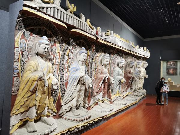 云冈石窟第13窟南壁7立佛龛3D打印等比例复成品