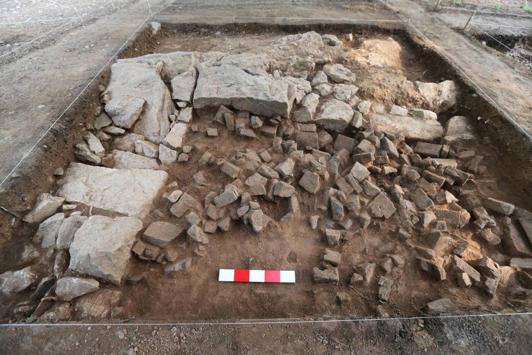 香山寺遗址挖掘现场