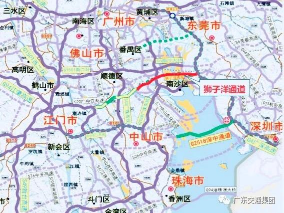 """狮子洋通道。微信公众号""""广东交通集团"""" 图"""