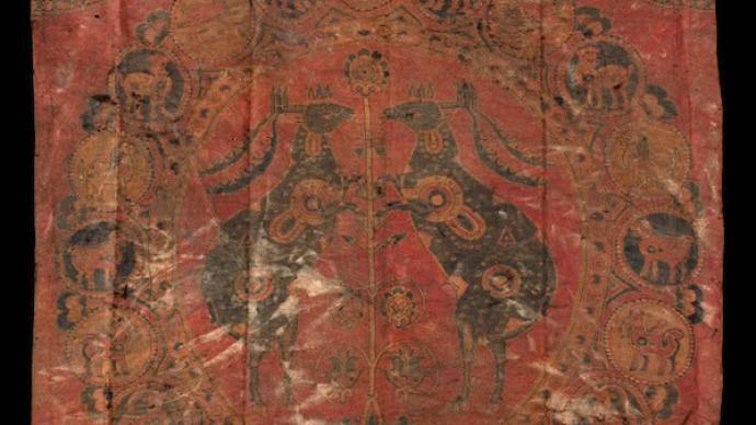 从海外藏对鹿纹挂锦见吐蕃时期丝路多元文化的交融