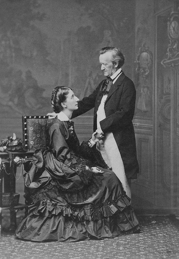 1872年瓦格纳与夫人科西玛·瓦格纳(李斯特女儿)