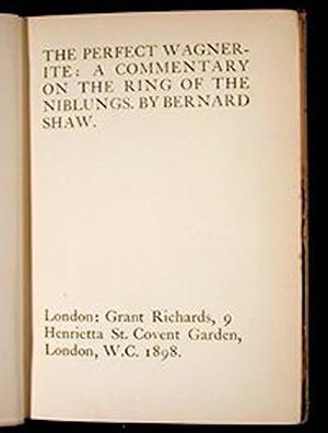 萧伯纳《完美的瓦格纳派》,1898年