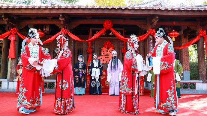 """中國戲曲文化周開幕,在園林中""""沉浸式""""感受戲曲文化"""