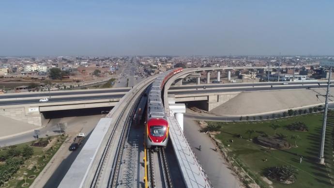 巴基斯坦拉合尔轨交橙线项目开通运营,图纸中流淌中巴友谊