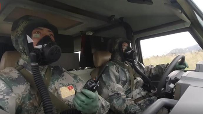 視頻丨國家海上核生化應急救援隊進行陸上演練