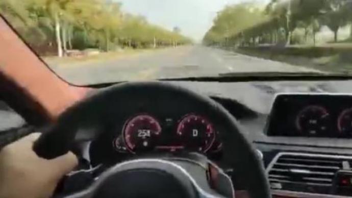 宝马司机单手飙车时速近260公里被举报,南通警方:已抓获