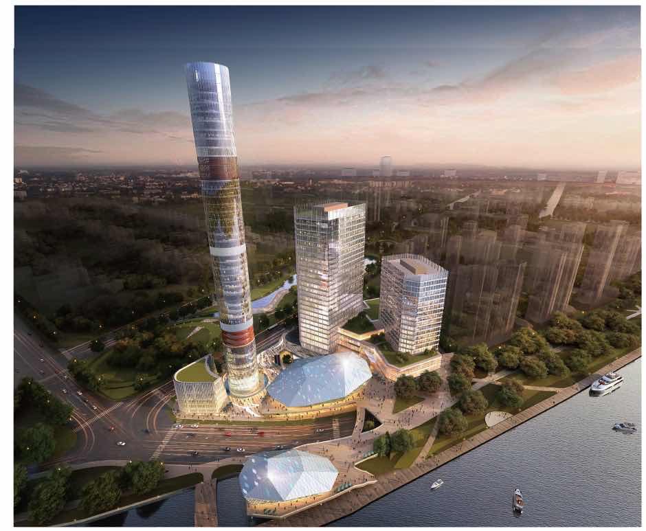 上海长滩观光塔区域建成效果图